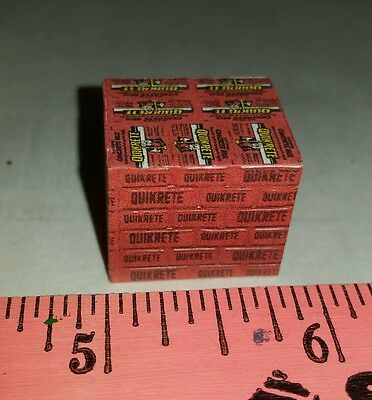 1//64 custom farm toy Pallet of red quikrete concrete bags s scale ertl dcp