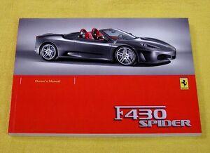 Ferrari-F430-Spider-RARE-Original-Owners-Handbook-2006-UK-English-Text-Only
