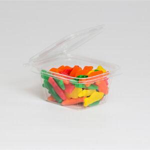Details about Safe-T-Fresh Polyethylene Tamper Resistant Food Container  Clear 16 oz | 240/Case