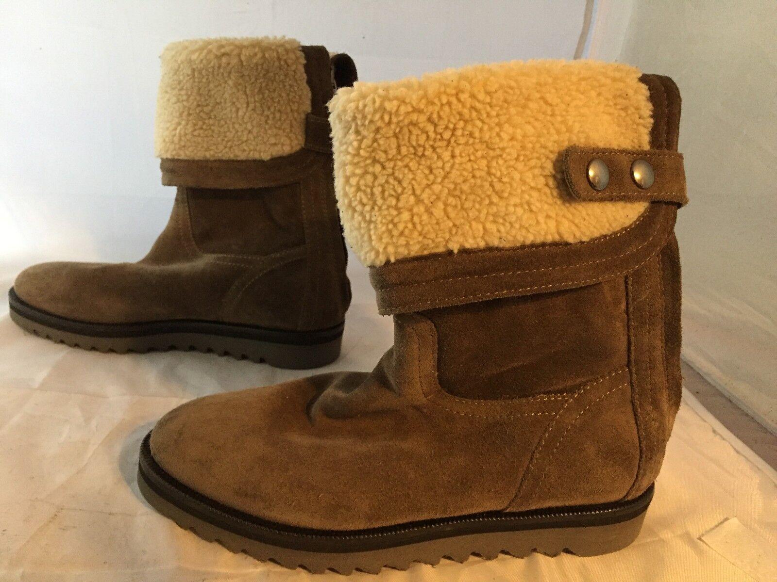 NEU Aquatalia Perdi Braun Suede Water-Resistant Cuff Stiefel, Damens Größe 5, 495