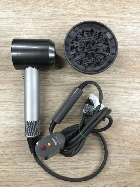 Genuine Authentic Dyson Supersonic Hair Dryer HD01 Silver Gray 1600W W/ Diffuser