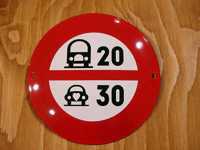 PLAQUE EMAILLEE panneau limitation vitesse auto camion voiture SPEED LIMIT SIGN