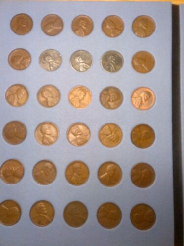 Wheatback PDS Complete Set Lincoln Cents 1940-1949 Pennies