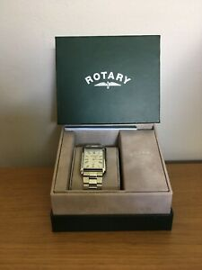 Men-039-s-ROTARY-Cambridge-Watch-Quartz-Movement-Silver-A1