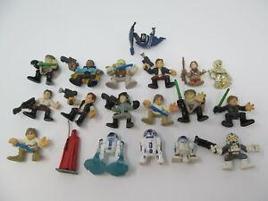 Star-Wars-18-figures-lot-Luke-Skywalker-Han-Solo-R2-D2-C-3PO-Galactic-Heroes-LFL
