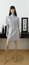 Robe-chemise tunique vintage rayures bleu/blanc taille 40/42