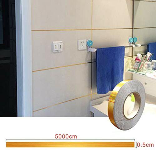 50M Ceramic Tile Mildewproof Gap Tape Floor Cover Tape Wall Sticker Adhesive  UK