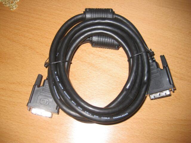 5 Stück DVI Anschlusskabel, DVI(24+1), 2x Ferrit, St/St, 2.0m, DVI-D Dual Link