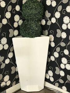 Tall White Jardiniere Jardin Rétro Meubles Bespoke Design Et Forme-afficher Le Titre D'origine