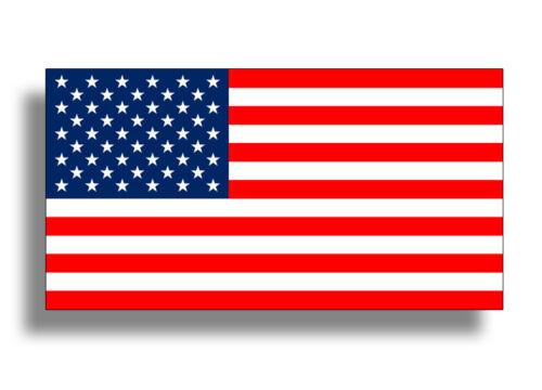 "6/"" American Flag Stickers USA Car Jeep Car 4x4 ATV Vehicle Window Bumper Graphic"