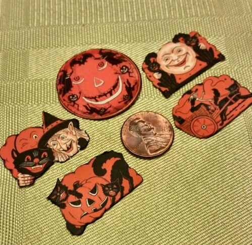 "1/"" Scale-Artisan Made by LDD HALLOWEEN Set of 5 Halloween Decorations"