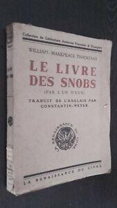 W-Makepeace Thackeray El Libro Las Snobs La Renacimiento de Pin 1922 ABE