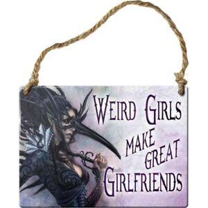 Alchemy-Gothic-Weird-Girls-Make-Girlfriends-Metal-Hanging-Wall-Plaque-Sign-9cm
