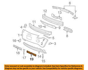 GM Genuine 10346364 Bumper Fascia Name Plate Rear