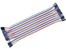 40 X Dupont Breadboard Jumper Wires 20cm Long F F Female Female