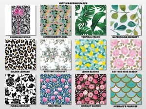 """24"""" Gift WRAPPING PAPER All Occasion Designs Choose Print & Length Amount"""