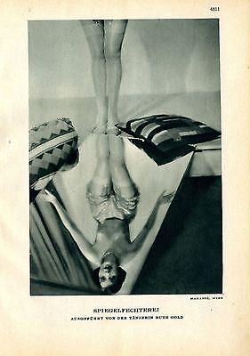 Tänzerin Ruth Gold ( Spiegelfechterei ) Manassè Wien c.1930