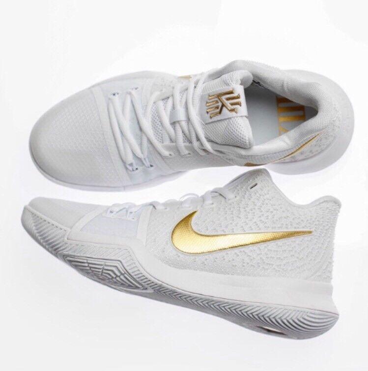 Nike Kyrie 3 III Finals MVP 852395-902 White GOLD Irving Championship 852395-902 MVP Mens Sz 14 e13853