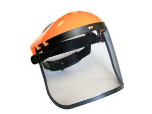 Schutzhelm zum Mähen Motorsense Rasentrimmer Visier Maske mit Mesh 83093