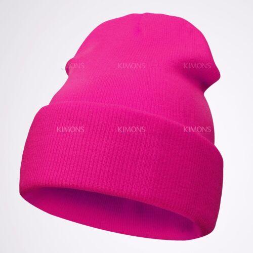 New Cuff Beanie Plain Knit Hat Winter Warm Cap Slouchy Skull Ski Hats Warm Caps