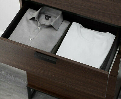 """DRAWERS ONLY IKEA TRYSIL DRAWERS 26/"""" X 17/"""" for TRYSIL Wardrobe Storage Brown"""
