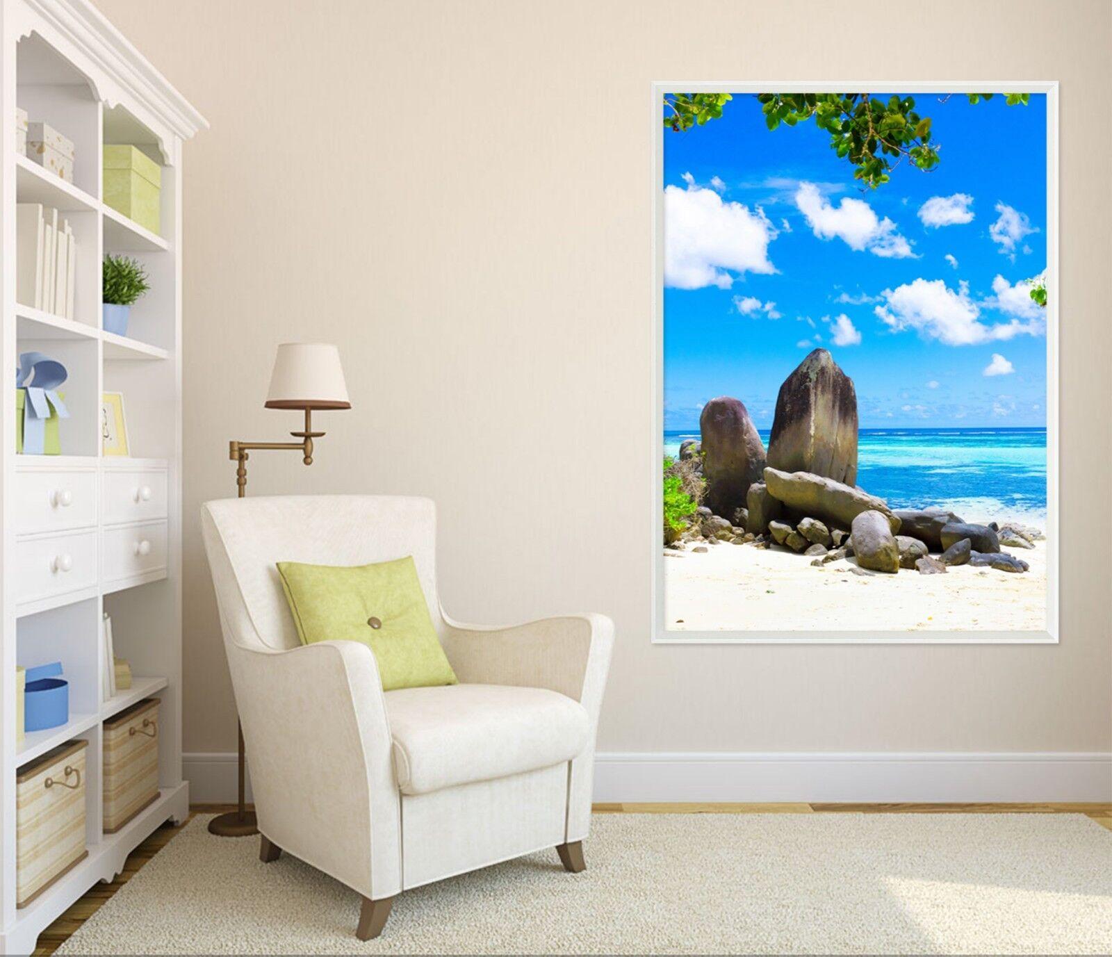 3D Seaside Scenery 511 Framed Poster Home Decor Print Painting Art AJ AU