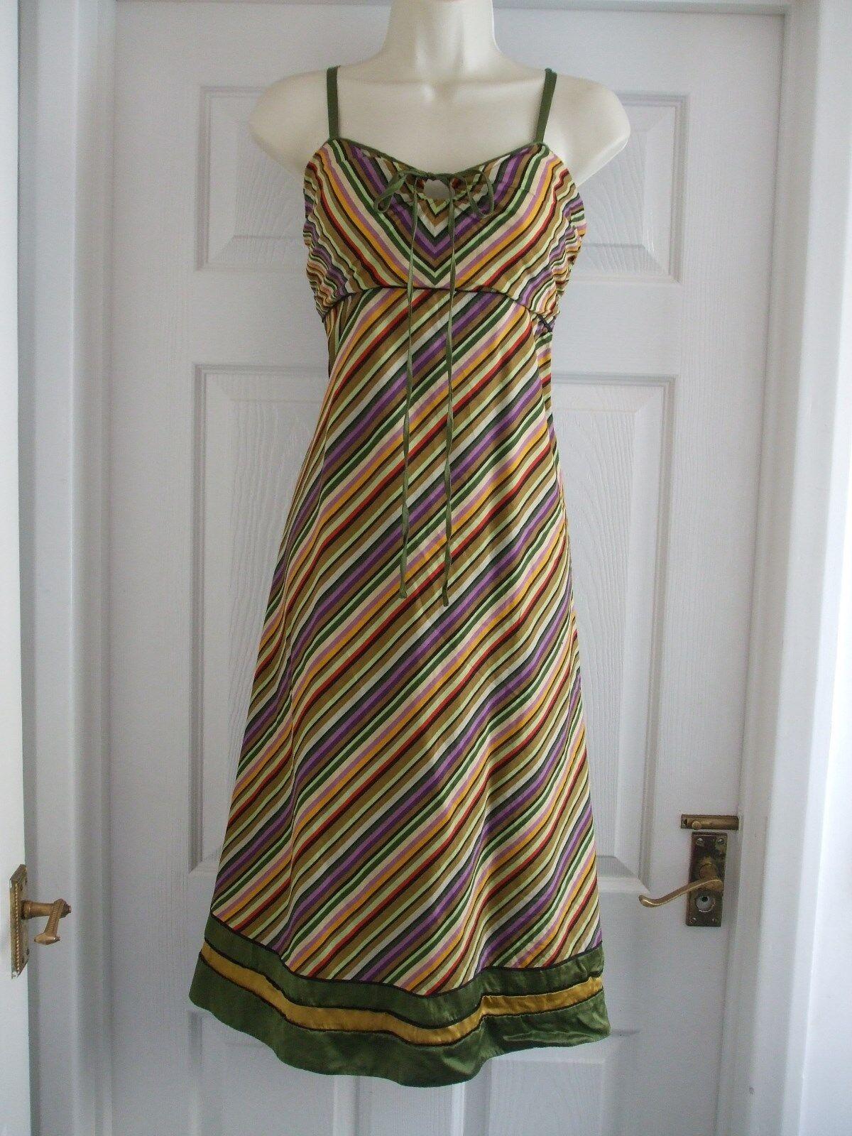 E Womens Size 14 Linea Multi Stripy Dress LADIES SUMMER SMART WORK EVENING PARTY
