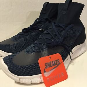 e2e75a6ad22f New DS Nike Free Flyknit Mercurial SP Sz 13 Dark Obsidian Blue White ...