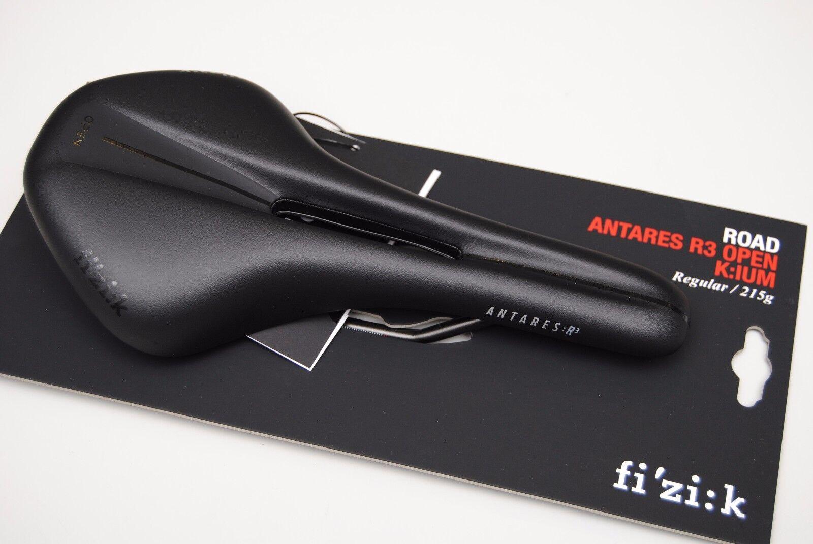 Sella Fizik ANTARES R3 OPEN Regular 140mm Kium negro SADDLE FIZIK ANTARES R3