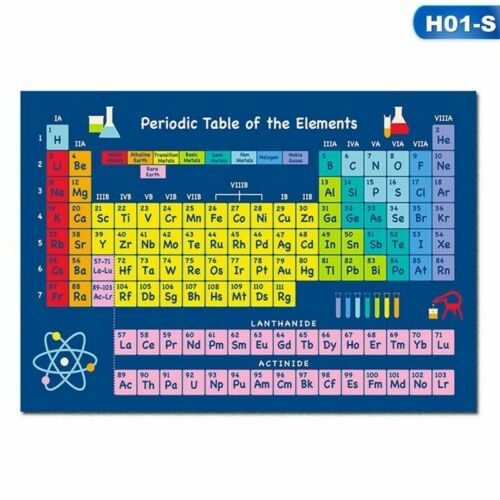 Periodic Table of Elements Educational Giant Poster Art Print A4 Practical  xkj