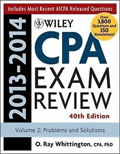 Wiley CPA Examination Review 2013-2014, Problems and Solutions (Volume 2) by Whi