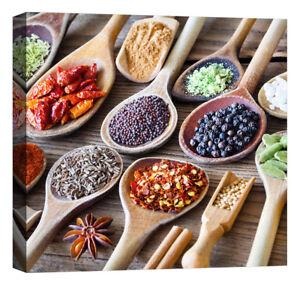 Stampa su Tela Vernice Effetto Pennellate cucina etnica spezie