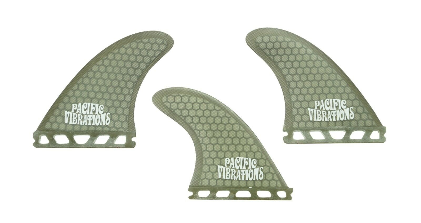PACIFIC VIBRATIONS FUTURES  2.1 fins Kelly Slater TRI 3 SURFBOARD FINS SMOKE