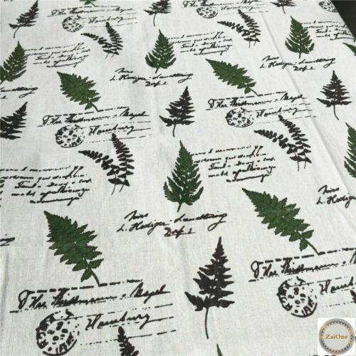 Vintage Estilo Británico Europea Natural Algodón Lino Paño De Tela Coser Patchwork