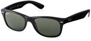 ea3f270cccf Ray Ban RB 2132 901 58 Black Polarized Unisex Wayfarer Sunglasses ...