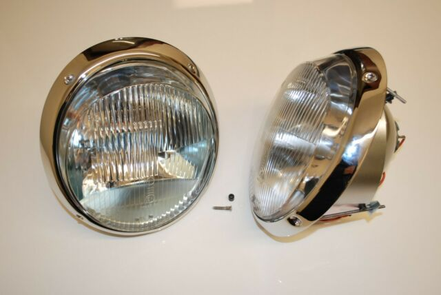 NEW production Porsche Chrome H1 headlights 911 headlight as NOS sold as a pair