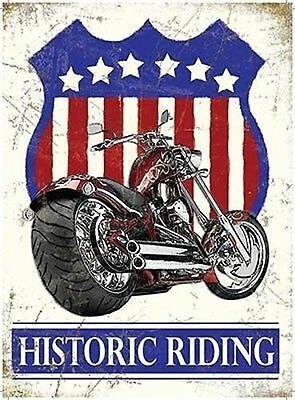 Montar a caballo de la ruta 66 autopista histórico Biker Metal Placa De Pared Letrero nostálgico de estaño 225