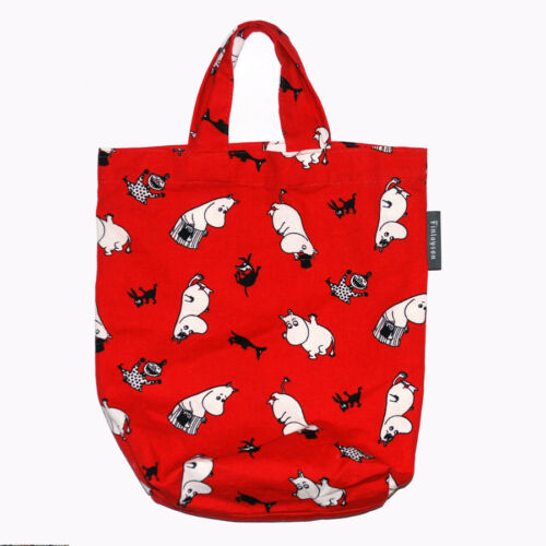 Moomin Small Canvas Tote Bag Finlayson Red