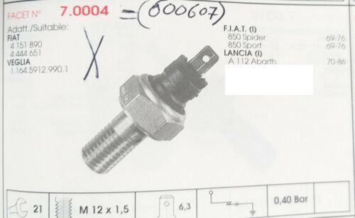 INTERRUTTORE BULBO PRESSIONE OLIO FIAT 850 SPORT SPIDER ABARTH A112 ABARTH WEPOO