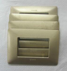 BTICINO MATIX placca 3 moduli posti gold AM4803MGL