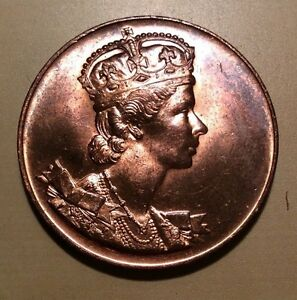 Canada 1953 Queen Elizabeth II Coronation Medal Cooper.