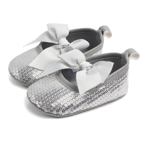 Girl/'s Baby Infant Sequins Glitter Crib Shoes Toddler Prewalker Soft Sole 0-12M