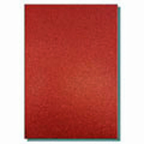 2 X Hojas A4 De 220gsm Premium Dovecraft Ruby Red Glitter Tarjeta