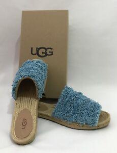 8fc76257a1c Details about UGG Australia Edith Slide Yarn Fringe Aqua Blue 1090849  Slides Sandals