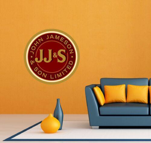 "John Jameson /& Son Bar Restaurant Wall Decor Sticker Decal 22/""X22/"" JJ/&S"