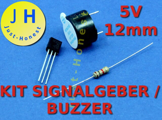 KIT 5V 12mm Signalgeber Schallgeber Buzzer Beeper Arduino MCU PCB #A123
