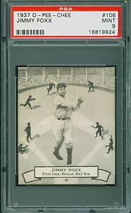1937-O-Pee-Chee-OPC-Jimmy-Foxx-106-PSA-9-RED-SOX-HOF-MINT-POP-1