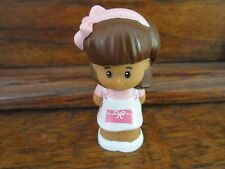 Fisher Price Little People Mia Pink Headband Brown Hair White Shoes MarketToy