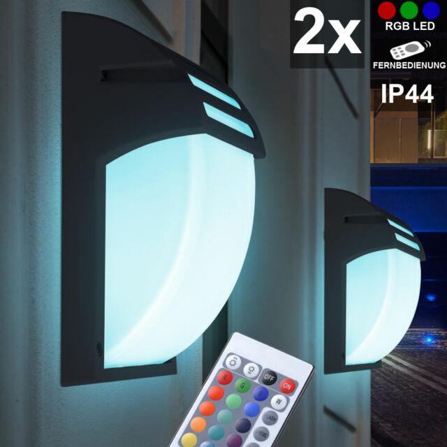 RGB LED Wand Lampe Fernbedienung Farbwechsel Bewegungs Melder Hof Außen Leuchte