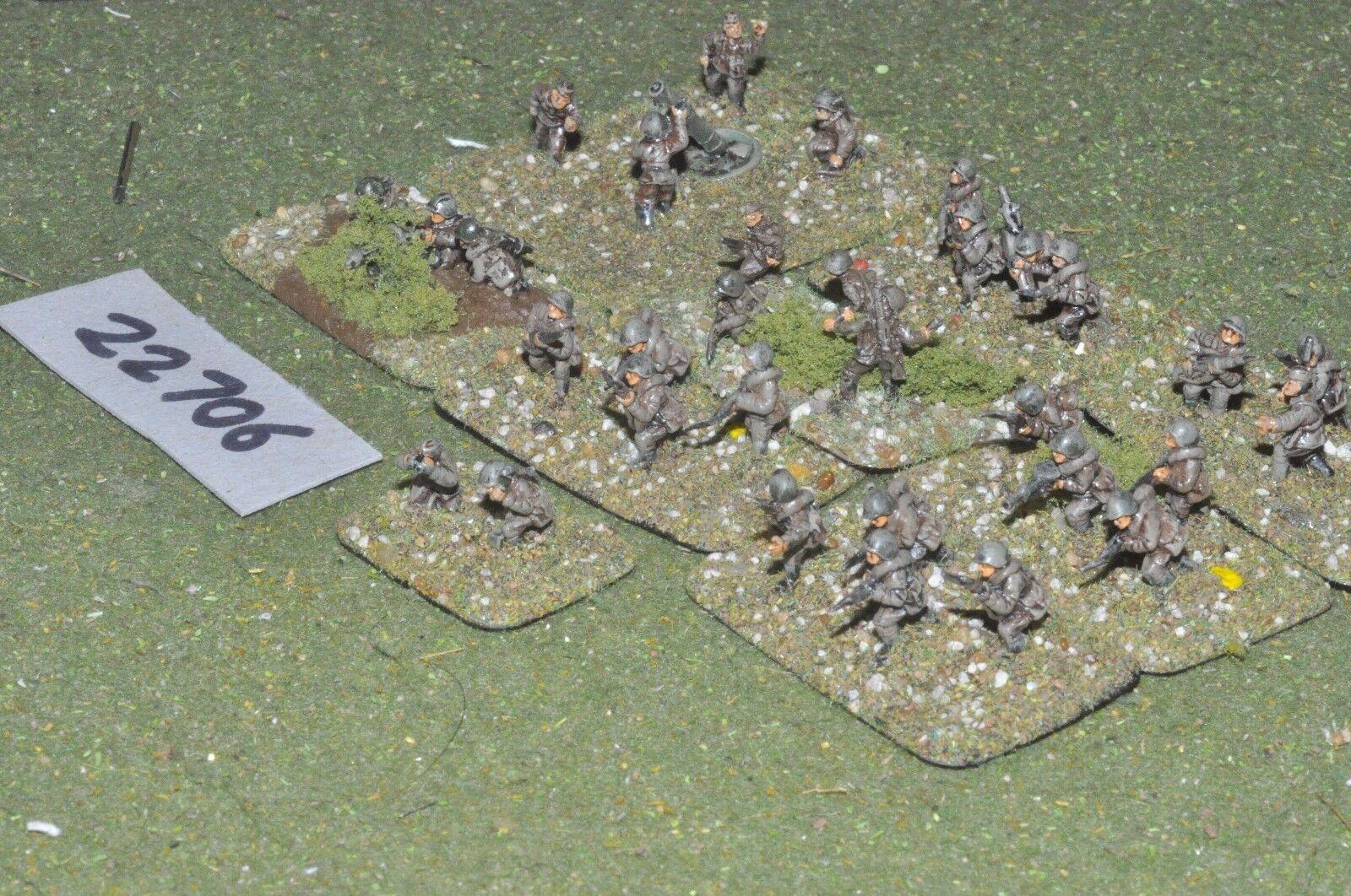 15mm WW2   russian - battle group inf world war 2 - inf (22706)